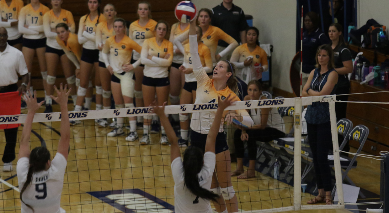 Photo for Lions Finish Hope International in Five Set Conference Opener